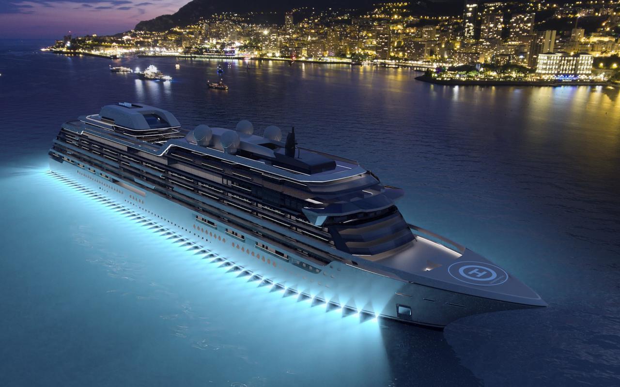 Zo zou het cruiseschip Njord er kunnen gaan uitzien.