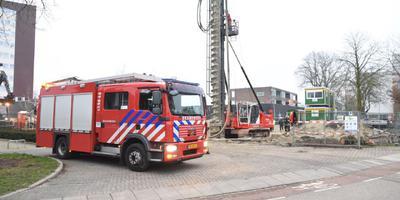 De bouwplaats aan de Midenhaag in Emmen.