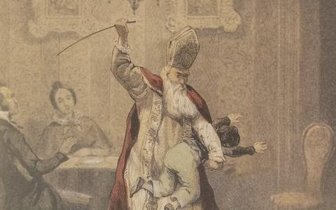 Dominee uit Dwingeloo creëerde horror-Sinterklaas (die het moest afleggen tegen de Sint-Nicolaas met Zwarte Piet)