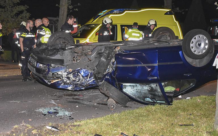 Automobilist raakt zwaargewond na ongeval op Hollandscheveldse Opgaande.