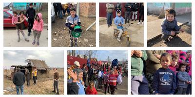 De komst van Lianne Brons en andere weldoeners zorgde voor veel blije gezichtjes in Roemenië.