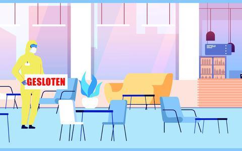 Leeg restaurant.