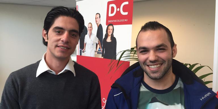 Mohamed Khdeer (rechts) en Abdalrahman Arafa FOTO DVHN