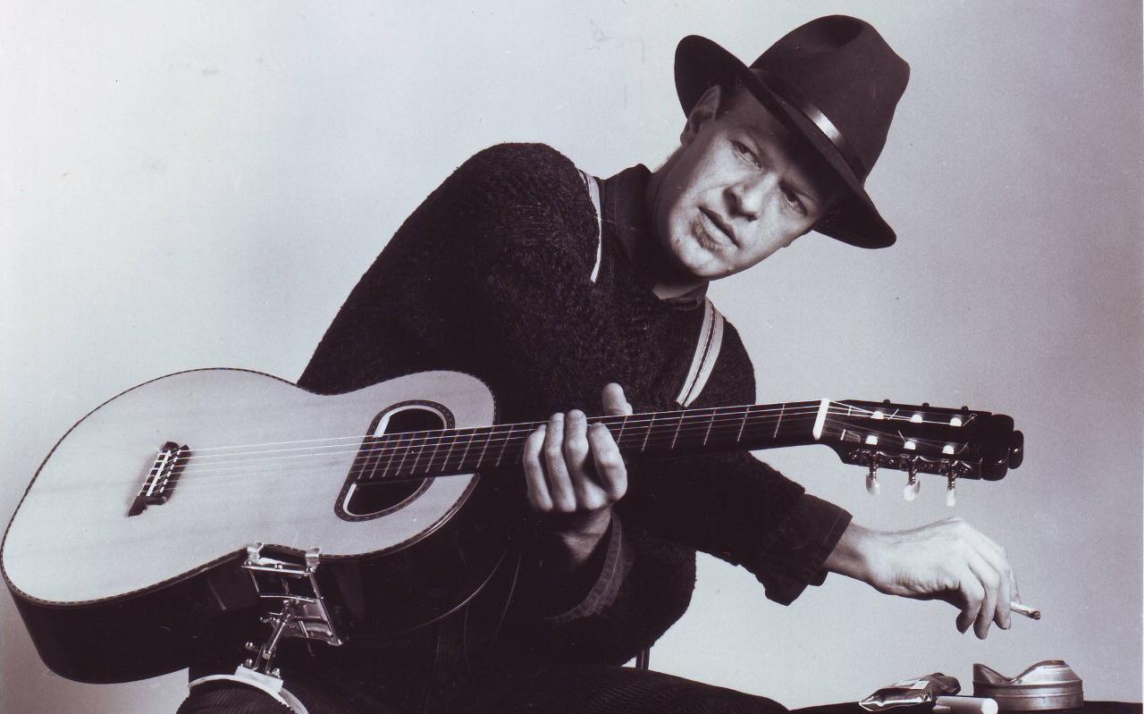 Gitarist Piet Hoeksma eind jaren '80.