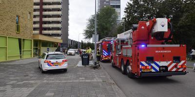De brand ontstond op de zesde etage.