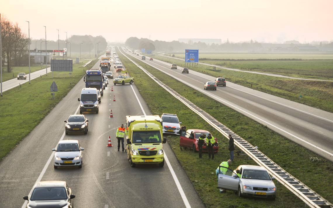 Ongeluk op A7 tussen Zuidbroek en Groningen: file - Dagblad van het Noorden