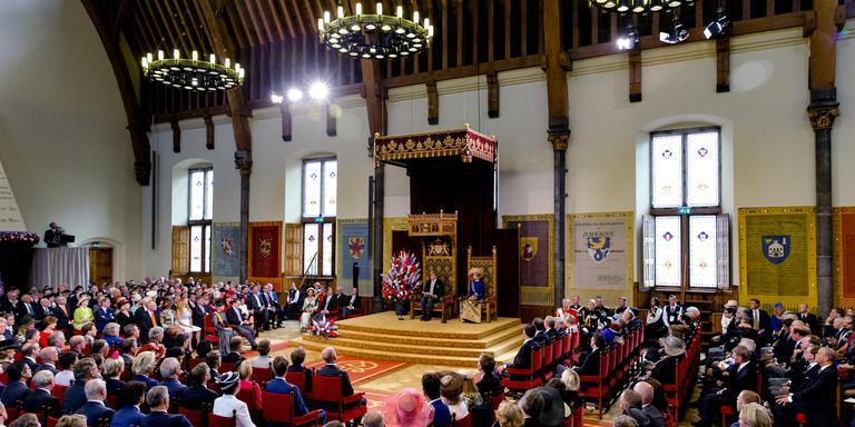 Koning Willem Alexander leest de troonrede voor in de Ridderzaal.
