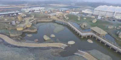Luchtfoto van de nieuwe dierentuin