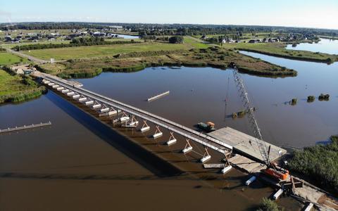 Oldambt steelt de show met de langste brug voor fietsers en voetgangers in Europa. 'Wow, prachtig!'