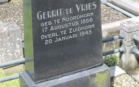 Grafsteen Gerrit de Vries