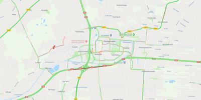 Drie ongelukken zorgen voor vertraging op de A37 bij Hoogeveen. Foto: Google Maps