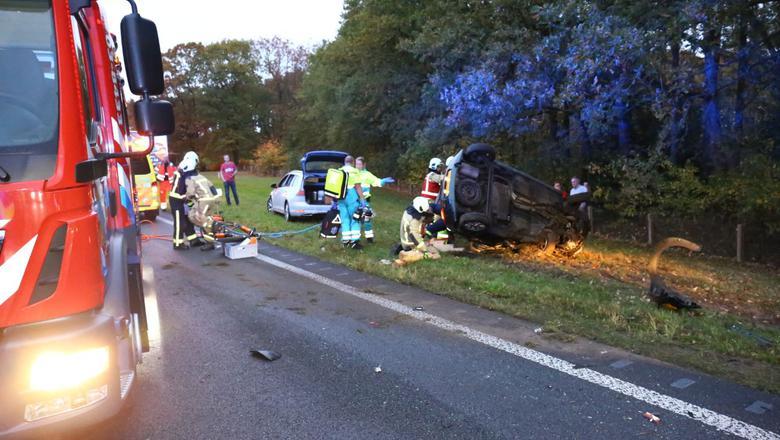 Ongeluk op N34. Foto: Van Oost Media