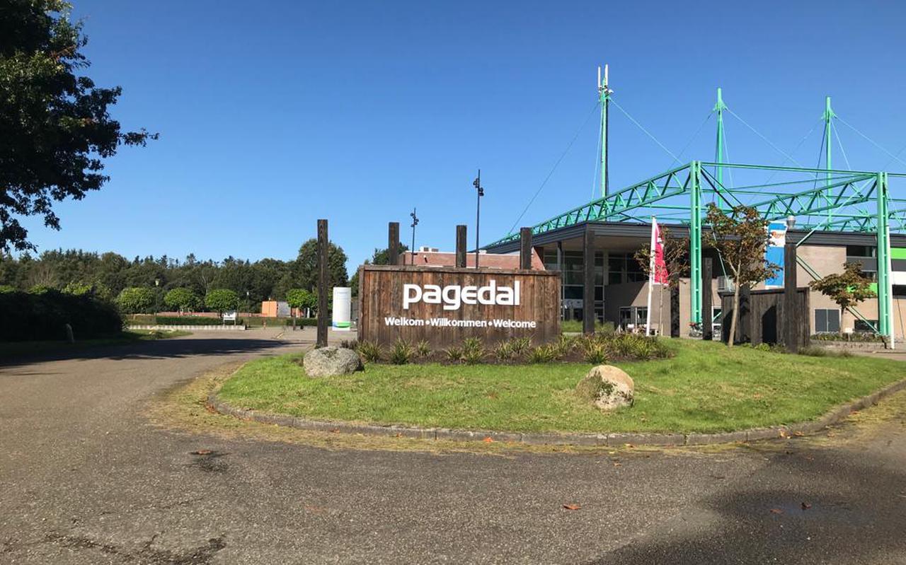 Ingang van vakantiepark Pagedal in Stadskanaal.
