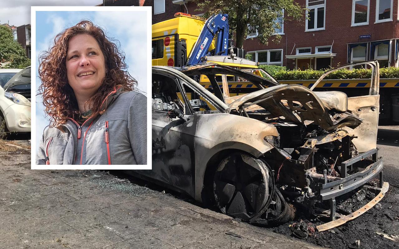 Van de VW ID.3 van Mariska van Nijen bleef niets over. 'Ik ben erg nieuwsgierig naar de oorzaak'