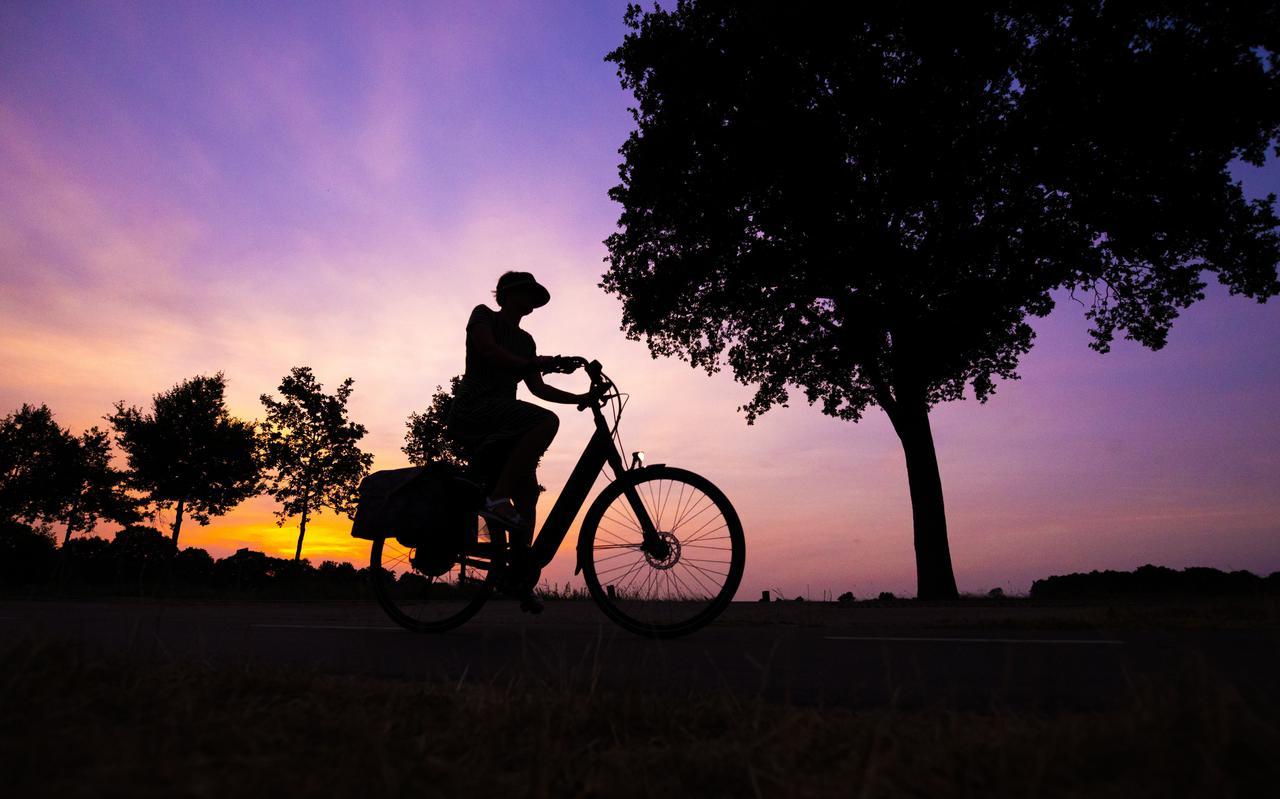 's Avonds en 's ochtends vroeg is het een stuk rustiger op de fietspaden.