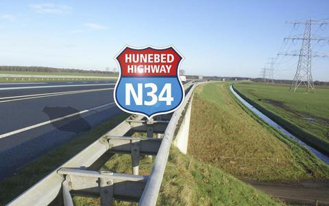 De N34 bij Emmen.