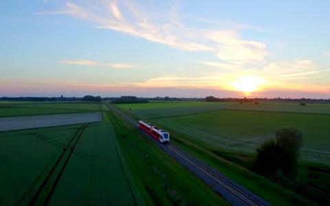 Er gaat een drone boven Groningen