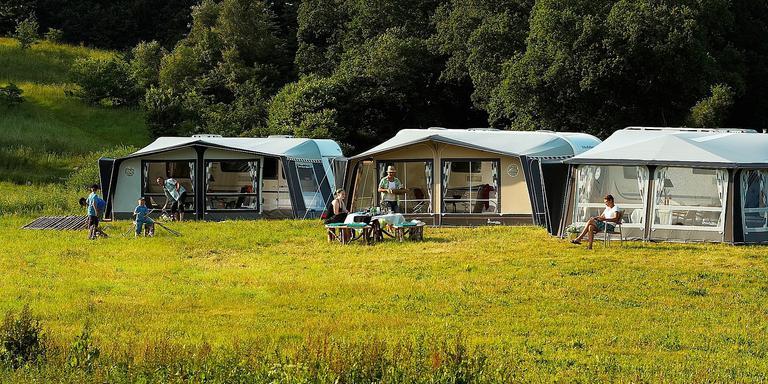 Kamperen met caravans. FOTO PIXABAY