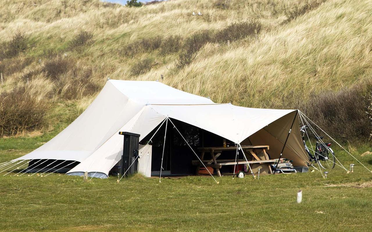 Een De Waardtent op camping Stortemelk op Vlieland.