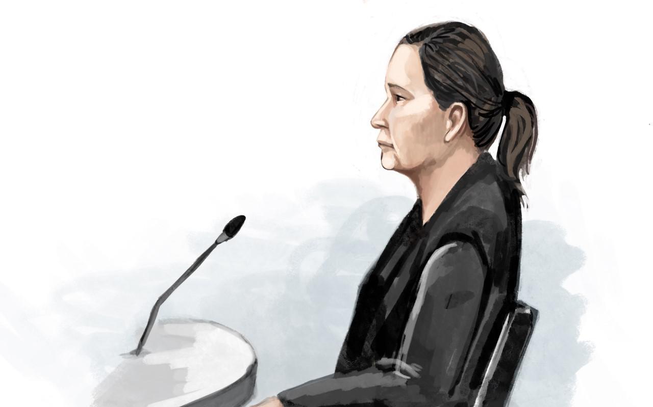 Annique B. uit Gieterveen voor zij boos de rechtszaal in Zwolle uitliep.