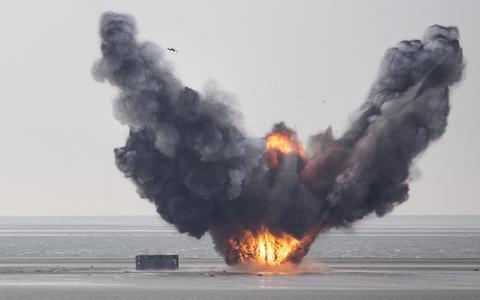 Explosie op Vlieland.