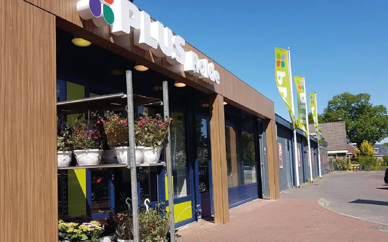 Supermarkt Plus in Rolde.