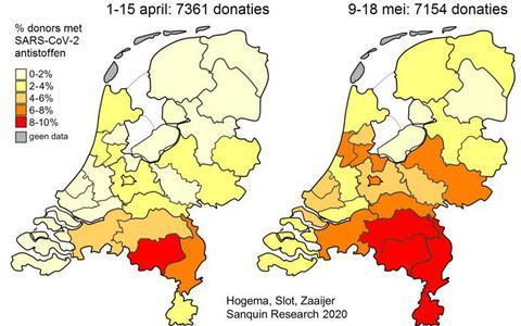 In Drenthe is de immuniteit tegen het coronavirus het laagst. Limburgse en Brabantse bloeddonoren hebben vijf keer zoveel antistoffen