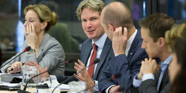 VVD-kamerlid Foort van Oosten tijdens het debat. FOTO ANP/BART MAAT