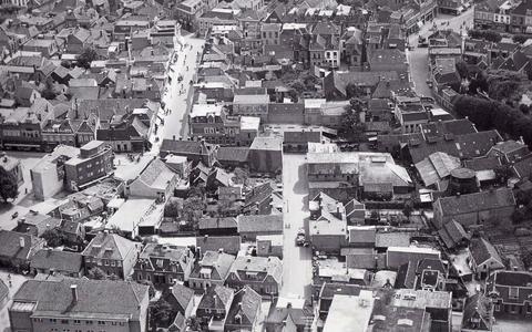 Luchtfoto van het centrum van Assen.
