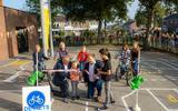De opening van het 'verkeersplein' in Roden.