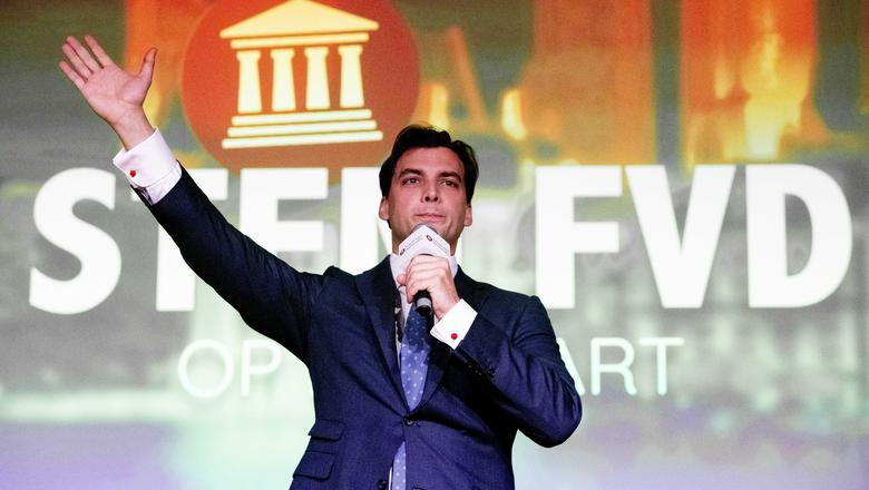 Thierry Baudet lijkt zich op te kunnen maken voor een grote verkiezingszege. Foto: Archief ANP