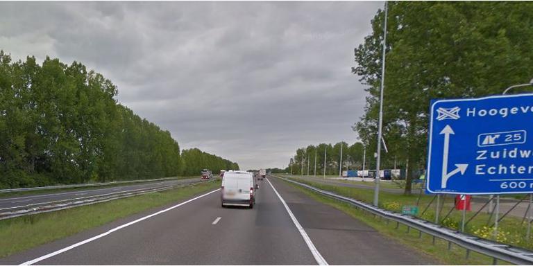 De A28 tussen De Wijk en Zuidwolde. FOTO GOOGLE STREETVIEW