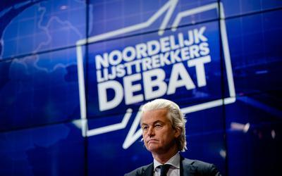 Geert Wilders, een van de aanwezigen bij het Noordelijk Lijsttrekkersdebat.