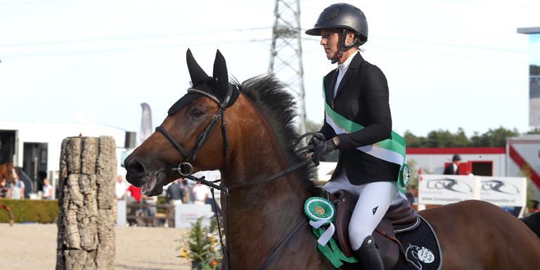 Chantal Regter uit Bovensmilde deed met met Quilando goede zaken. Ze werd tweede. Foto Persbureau Melissen
