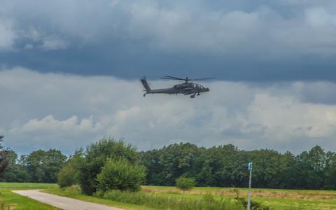 Deze helikopter werd gespot in Holthe.