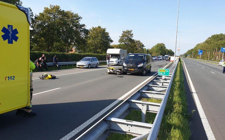 Ernstig ongeval op Noordzeeweg bij Groningen.