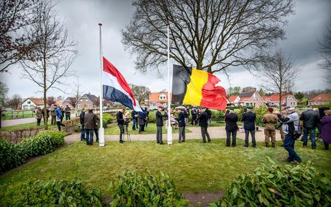 Bij de herdenking op 12 april zijn altijd Belgische militairen aanwezig