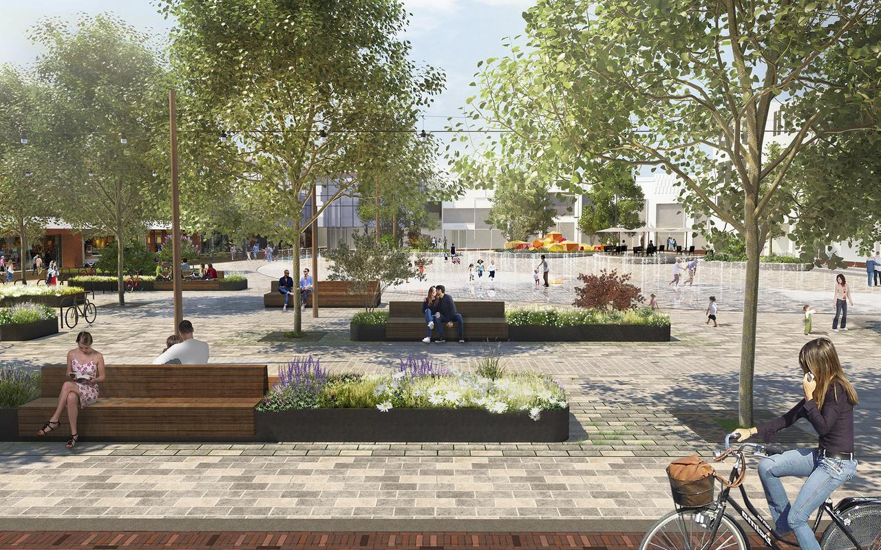 Het nieuwe Koopmansplein wordt het centrale winkelpunt van Assen.