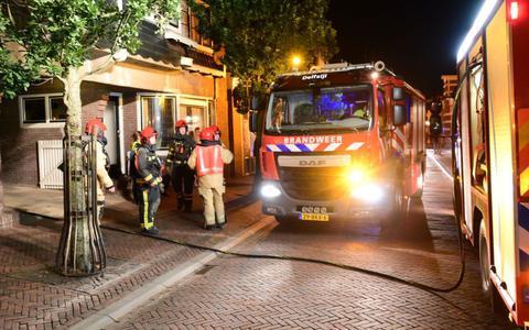 Brandweer ter plaatste in de Wijkstraat in Appingedam.