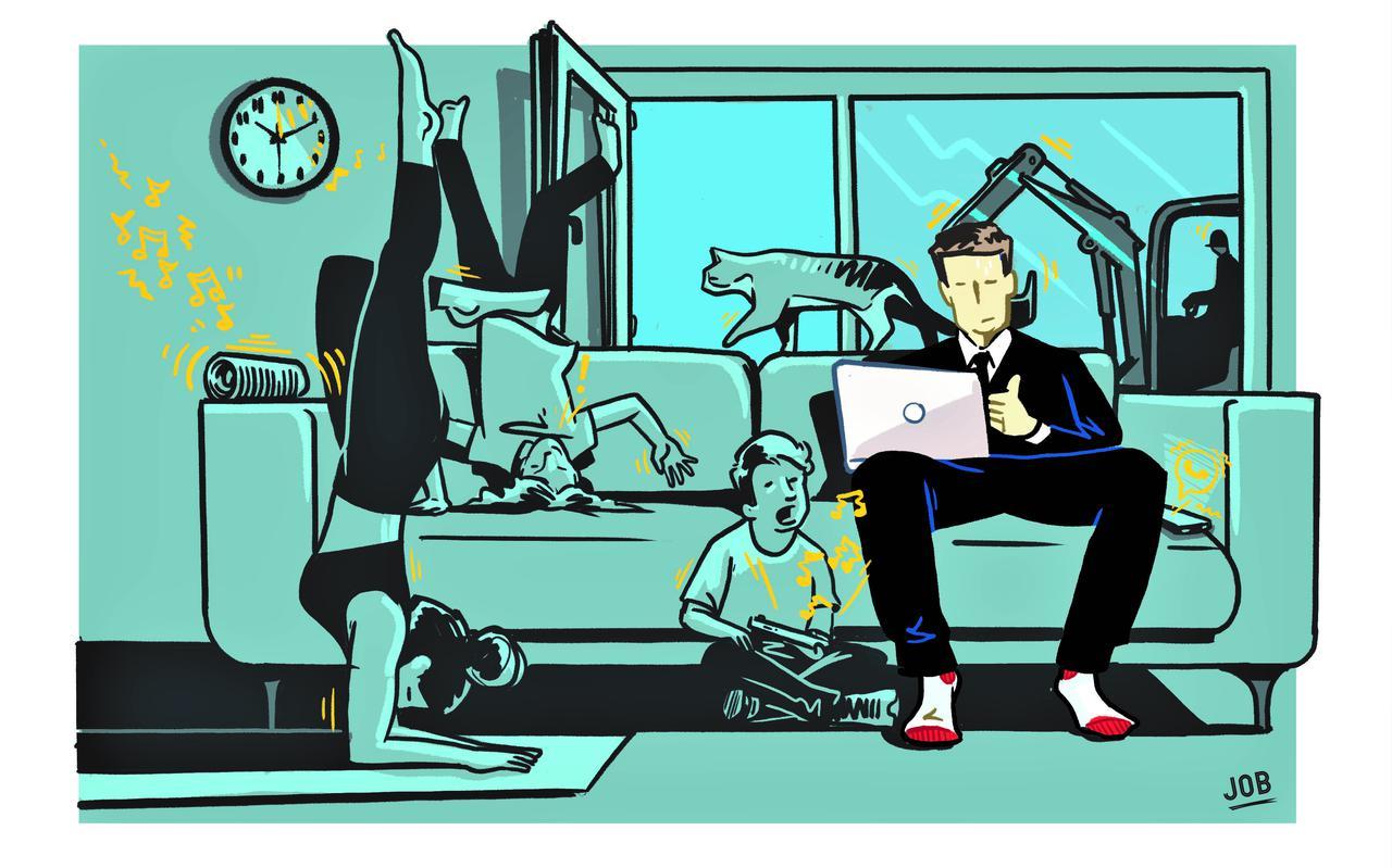 Laat je niet afleiden tijdens een virtuele vergadering thuis