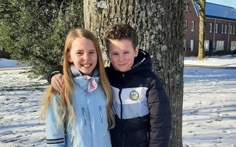 Voor Julia en Jayden (9) uit Hoogezand is Valentijnsdag extra bijzonder. Ze hebben nu precies één jaar verkering