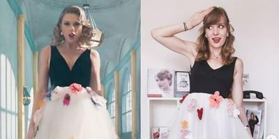 De gelijkenis tussen Lotte en Taylor Swift is groot.
