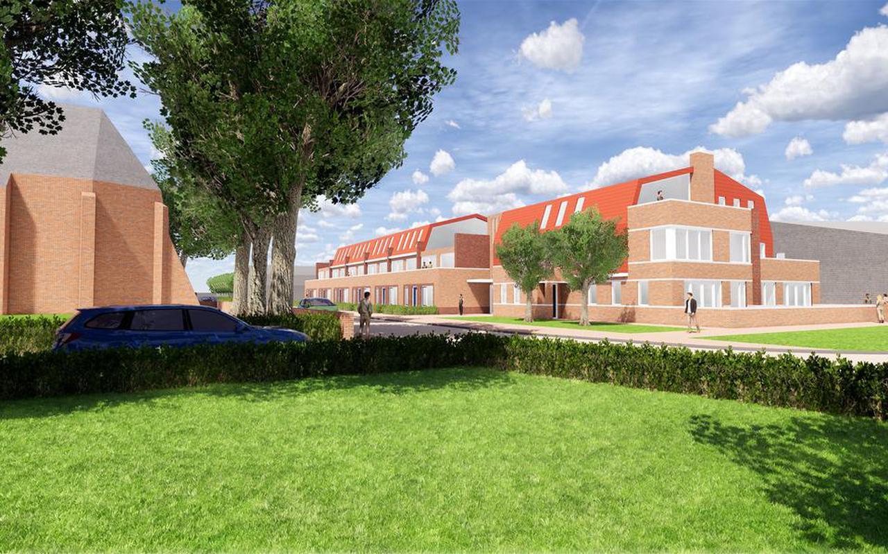 Het plan voor 34 appartementen in het centrum van Eelde.