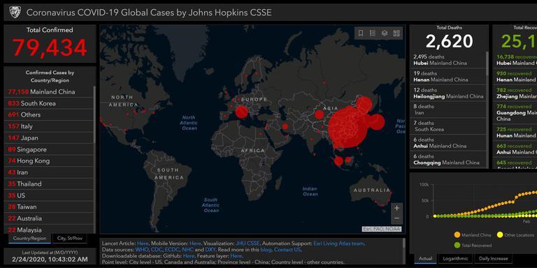 Bekijk Op Deze Kaart Hoe Het Coronavirus Zich Over De Wereld