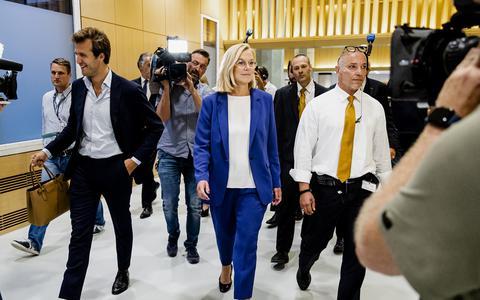 Demissionair minister van Buitenlandse Zaken Sigrid Kaag nadat ze bekend maakte terug te treden als minister.