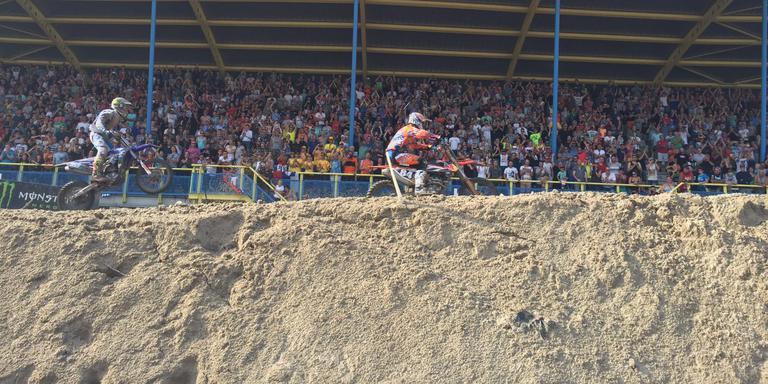 Jeffrey Herlings pakt zege op WK Motorcross in Assen. FOTO DVHN/WILLIAM POMP