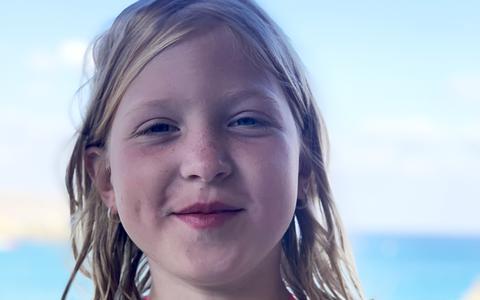 Isabelle Klingenberg, een van de twee 8-jarige meisjes die in februari dit jaar om het leven kwam bij een ongeluk in Weijerswold.