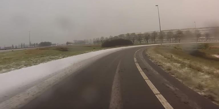 Rij mee door ijzig Groningen