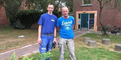 De vinders van de granaten: Danny de Boer (links) en Bart Ploeg.