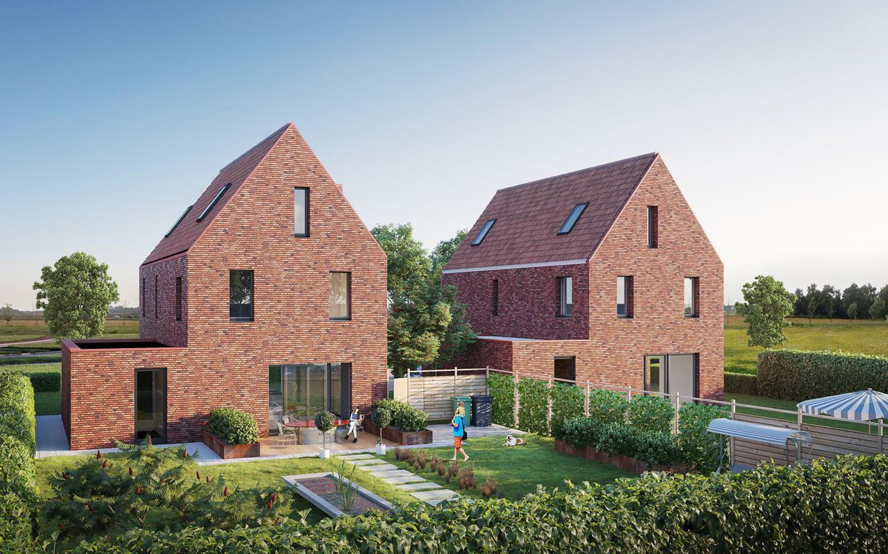 Impressie nieuwbouwproject Sluispoort in Meerstad, een van longlist genomineerden voor de Groninger Architectuurprijs 2021.